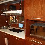 kitchenette standard in every apartment