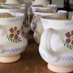 Small jugs in our Old Rose pattern.