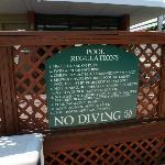 Reglas de la piscina