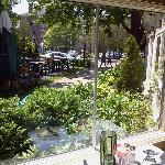View of Church St. from porch dining area