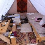 Das Zelt eines Ausstellers