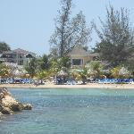 View of Decameron Club Carribean from beach