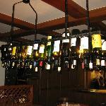 Empty wine bottle ceiling light