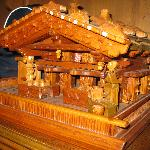 Carved wooden haus