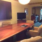 Executive suite with conference table