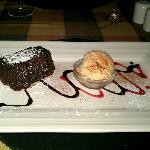 Chocolate Brownie with Homemade Bailys Icecream