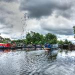 A barge goes through the Tinsley locks