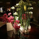 Lobby entryway flowers
