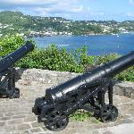 View from the canons at Fort Duvernette