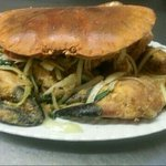 Large salt n pepper crab i requested for my birthday.