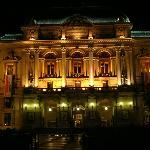 Theatre des Celestins at night