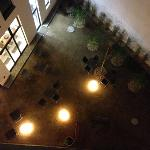 courtyard at night from bedroom on 3rd floor