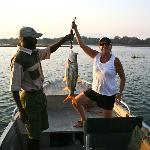 our Guide Marshall took us fishing - her first ever was a 10 pounder