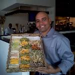 Justin, our General Manager displaying all of our fresh pastas!