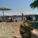 beach on mainland Greece, booze cruise