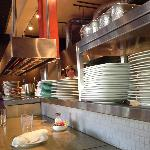 Chef's counter seating