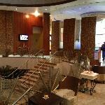 Part of hotel lobby
