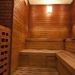 Sauna in the shower room