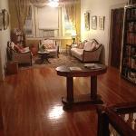 Upstairs reading area