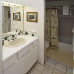 Small but usable bathroom