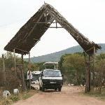 Main gate of Miti Mingi Eco camp