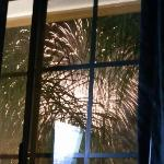 fireworks out the bedroom window