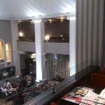 Executive lounge with main restaurant below