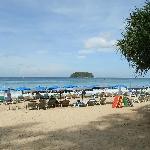 Kata beach, 5 minutes walk from the hotel