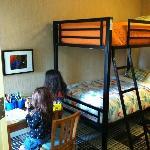 The kids enjoying their room