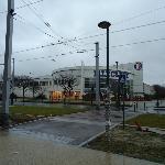 Centro commerciale di fronte all'albergo