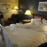 Extremely nice bed, tons of room