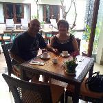 Me and my husband having breakfast