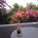 On my balcony having my coffee...;)