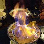 bannana and rum flambe crepe
