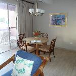 Dining area - table matches coffee table and buffet