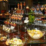Halloween dinner buffet presentation