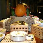 Halloween dinner buffet -presentation