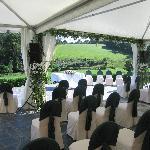 Carpa montada para una boda