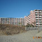 Motel view from the beach...