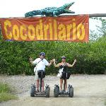 The entrance to the Cocodrilario after a Segway ride offroad