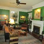 One of the comfortably decorated rooms at the Inn - every room has a fireplace
