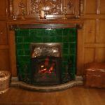 Warm log fire