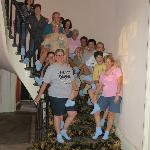 Our travel group of 14 on the circular stairway