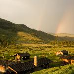 Rainbows over the ranch