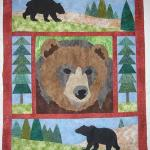 "First Years' Quilt: ""Grizz"""