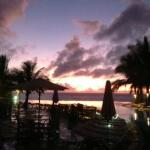 Dawn at the Baobab - view of the Kole Kole pool out over the Indian Ocean.