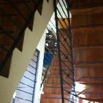 Vista de escaleras