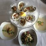 Oysters, Parsnip Soup, Tuna Tartare