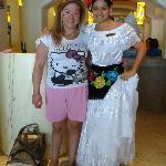 Yo (Lulú) y la hermosa Tania, un ángel