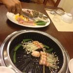 freshly BBQ seafood